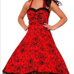NWT Hearts & Roses barb wire halter dress
